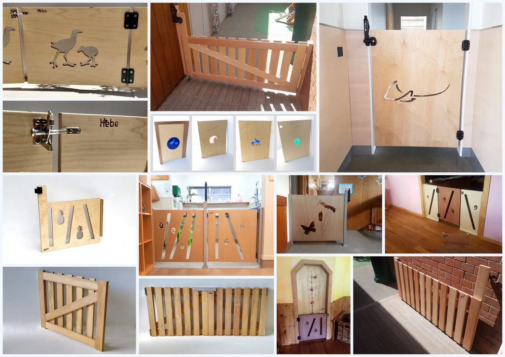 Child Security Gates Wooden Baby Gate Panels Custom Design Hebe Natural Childrens Furniture Childcare Designs NZ