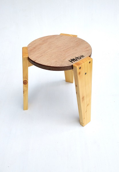 Stackable Stool Hebe Natural Childrens Furniture Wooden Seat NZ WEB