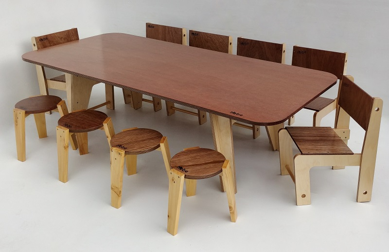 Trestle Table Hebe Natural Childrens Furniture NZ Kai Literacy Table Early Childhood Education