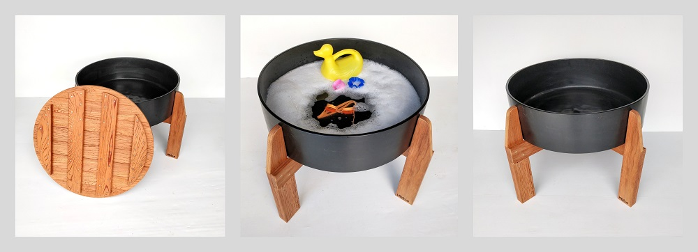 Water Activity Tub Outoor Play Equipment Child Kids Play Kindergarten Education Wooden Resources Hebe Natural Children Furniture NZ WEB