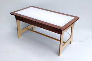 Light Table Hebe Natural Childrens Furniture NZ Lightbox Sensory Play Early Childhood Education
