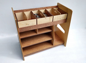Art Utility Station Hebe Natural Childrens Furniture NZ Paper Storage Shelves WEB