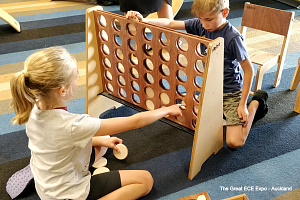 Giant Connect Four Wooden Games Hebe Natural Childrens Furniture NZ Resources Education