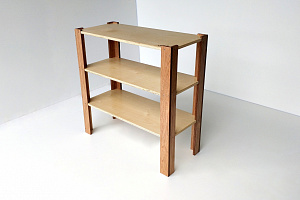 Classic Straight Shelf 900mm High Wooden Shelving Hebe Natrual Childrens Furniture NZ
