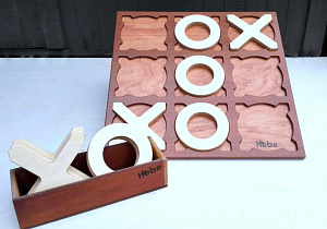 Hebe Giant Noughts And Crosses Game Children Education Wooden Toys