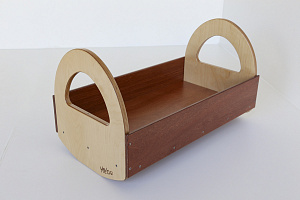 Dolls Cot Wooden Games Role Play Hebe Natural Childrens Furniture NZ Resources Education