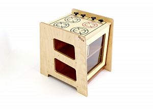Oven Hebe Natural Childrens Furniture Family Play Kitchen Hob