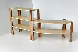 Classic Curved Shelf 900mm Staight Shelf 600mm High Wooden Shelving Hebe Natrual Childrens Furniture NZ