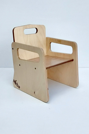 Infant Bucket Seat Wooden Chair Early Childhood Education Hebe Natural Childrens Furniture NZ